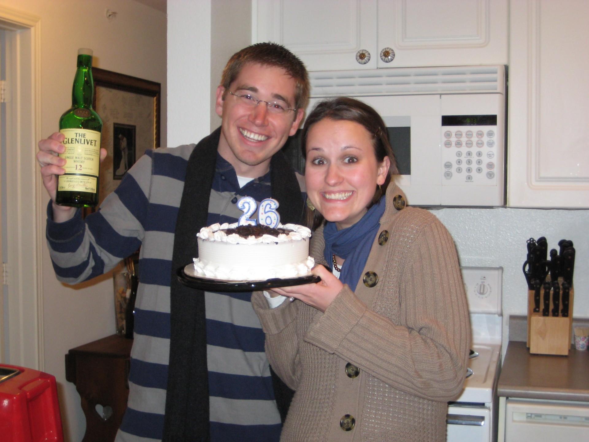 Joel brought the scotch