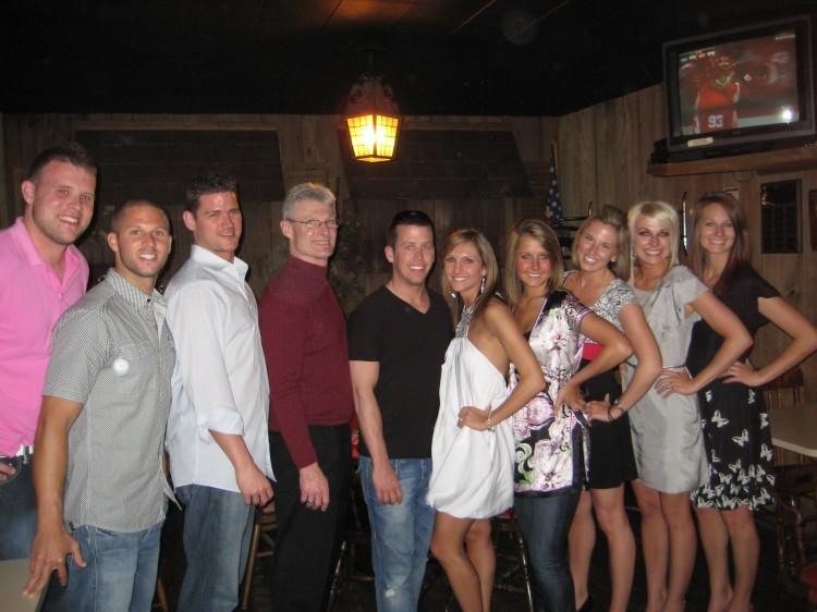 The bridal party: Greg, Drew, Ian, Brian, Derek, Jenea, Danielle, Adrienne, Jillian and Jenny