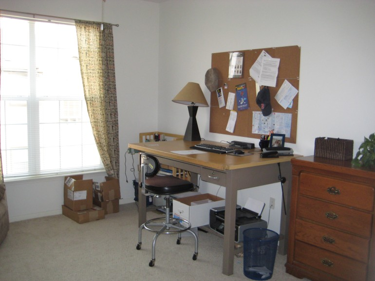 Coleman's Office (and the vintage architecture desk I got for free from a neighbor!)