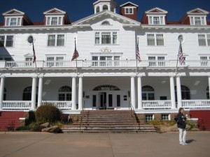 The Stanley Hotel (and Aunt Darcy with Starbucks)