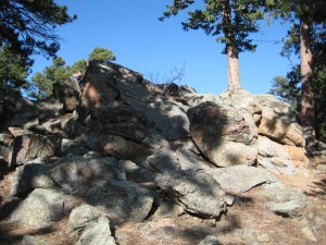 The rocks where their ashes are scattered