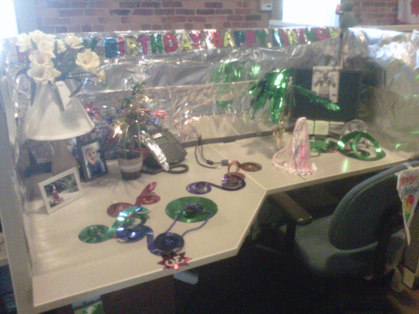 Cubicle Decorations For Birthday Birthday Decorating Committee Foil Edition Fauxfringe