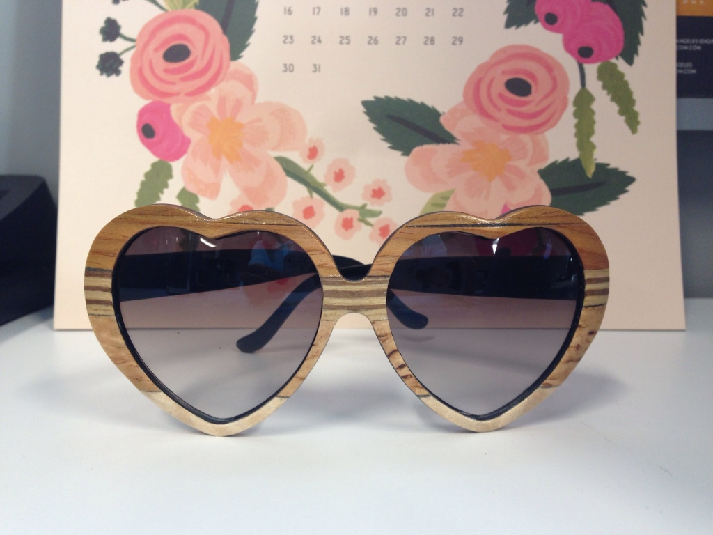 I snatched up these handcrafted wooden sunglasses when they went on sale over Labor Day weekend. They're from Tumbleweed Handcraft. (You should also follow them on Instagram because, among posting pictures of amazing sunglasses, they also post pictures of their adorable pets. Seriously, go take a look!)